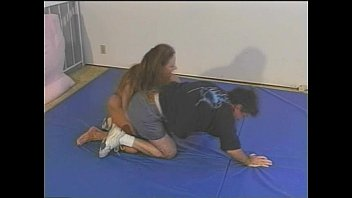mixed bodyscissors wrestling Hot black beauty sucks off white bf in amateur povloves cum